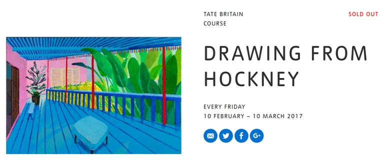 ipad painting workshop delivered at Tate Britain along side the David Hockney art exhibition