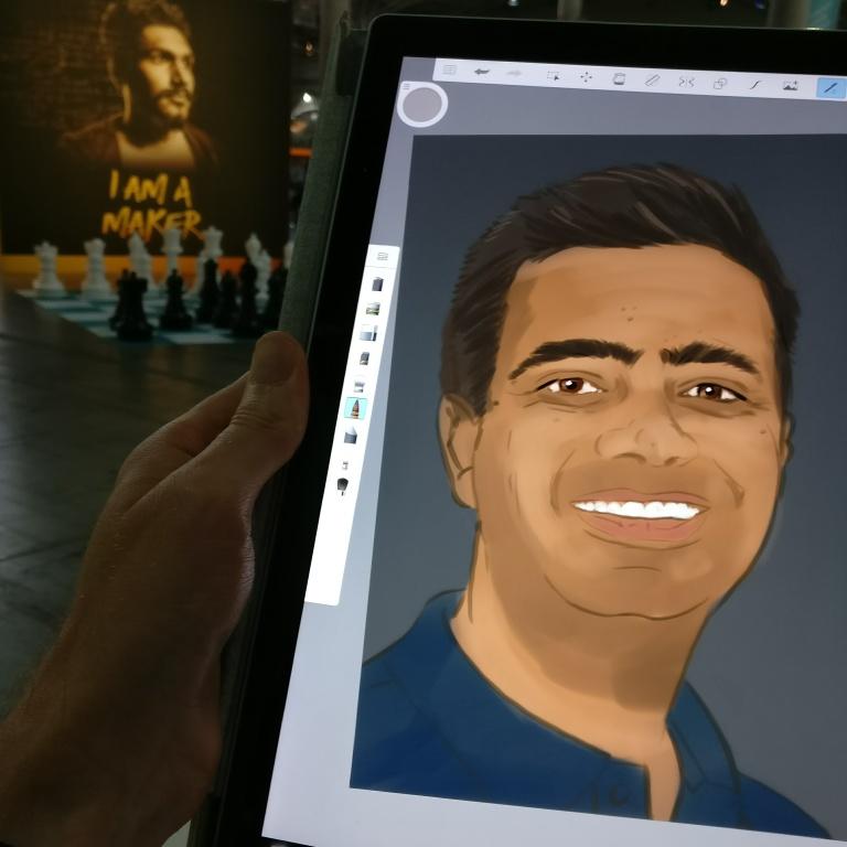 Surface artwork at VMWorld