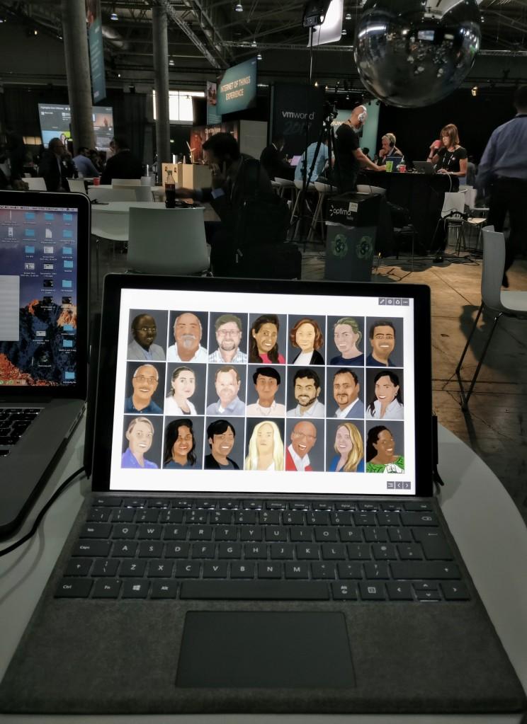 Surface Pro art at VMWorld