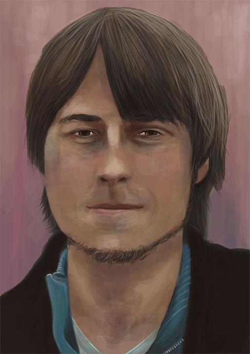 iPad portrait artwork of a young man