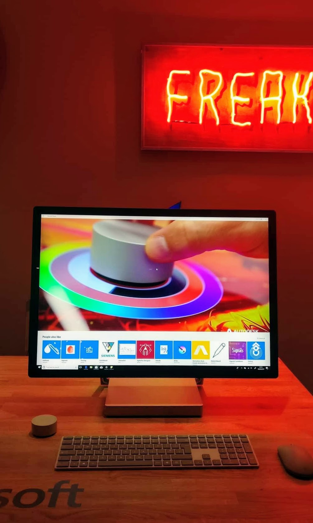The Microsoft Surface Studio computer