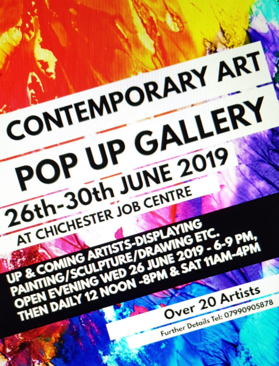 Pop up gallery flyer